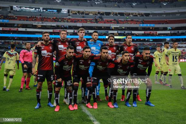 Players of Atlas pose for a photo prior the 6th round match between America and Atlas as part of the Torneo Clausura 2020 Liga MX at Azteca Stadium...