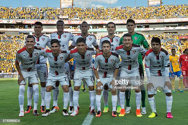 Players of Atlas pose for a team picture prior the 2nd round match between Tigres UANL and Atlas as part of the Torneo Apertura 2016 Liga MX at...