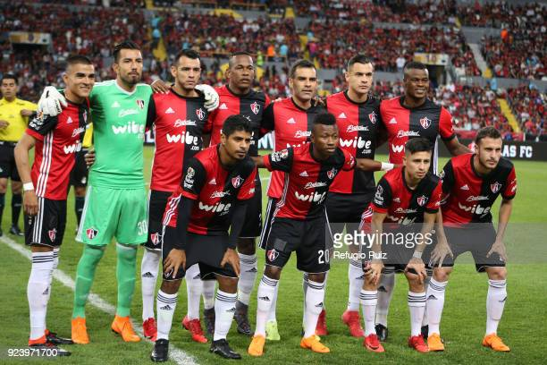 Players of Atlas pose for photos prior the match between Atlas and Monterrey as part of the Torneo Clausura 2018 Liga MX at Jalisco Stadium on...