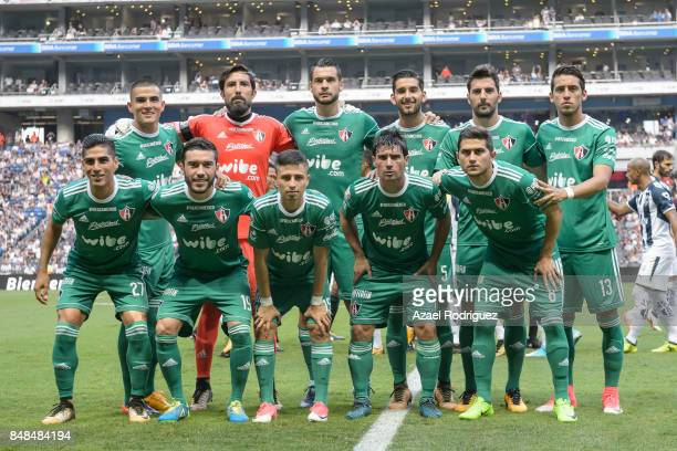 Players of Atlas pose for the team photo prior to the 9th round match between Monterrey and Atlas as part of the Torneo Apertura 2017 Liga MX at BBVA...