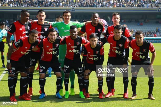 Players of Atlas pose prior the second round match between Pumas UNAM and Atlas as part of the Torneo Clausura 2018 Liga MX at Olimpico Universitario...