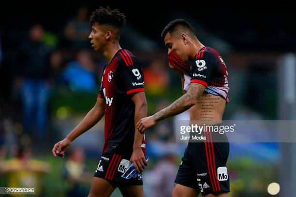 Players of Atlas reacts after the 6th round match between America and Atlas as part of the Torneo Clausura 2020 Liga MX at Azteca Stadium on February...
