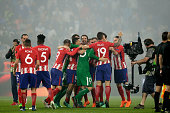 lyon france players atletico madrid during