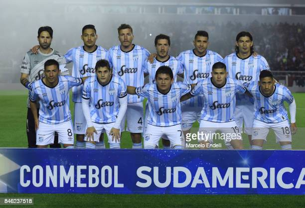 Players of Atletico Tucuman pose for a photo prior a second leg match between Independiente and Atletico Tucuman as part of round of 16 of Copa...