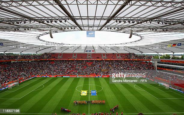 Players of Australia and Norway line up prior to the FIFA Women's World Cup Group D match between Australia and Norway at the FIFA World Cup stadium...