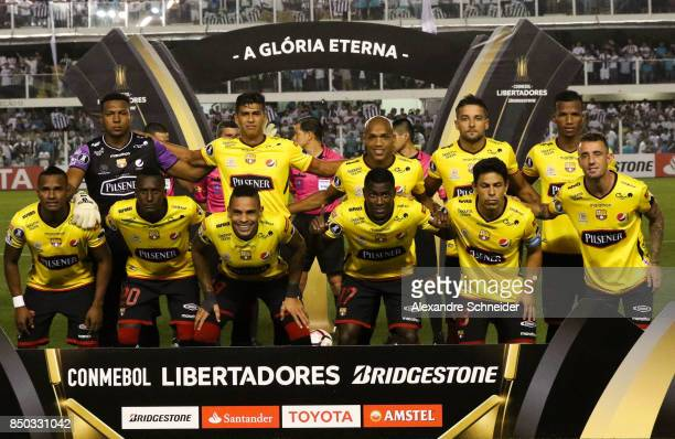 Players of Barcelona de Guayaquil pose for photo before the match between Santos and Barcelona de Guayaquil for the Copa Bridgestone Libertadores...