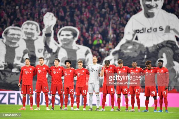 Players of Bayern Munich join the #gedENKEminute, a minute's silence for the late goalkeeper Robert Enke, who died on November 10 prior to the...