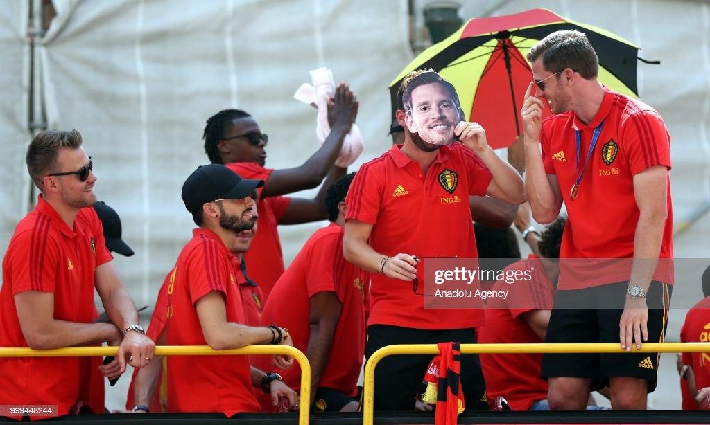 Belgium national team arrive in Belgium : News Photo