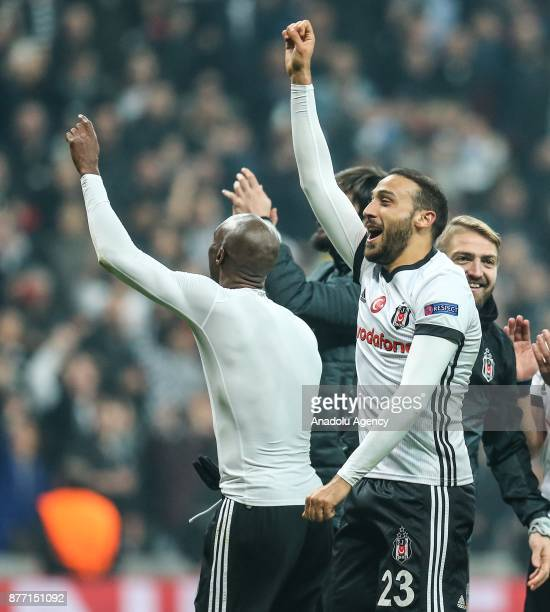 Players of Besiktas celebrate after the UEFA Champions League Group G soccer match between Besiktas and Porto at the Vodafone Park in Istanbul Turkey...