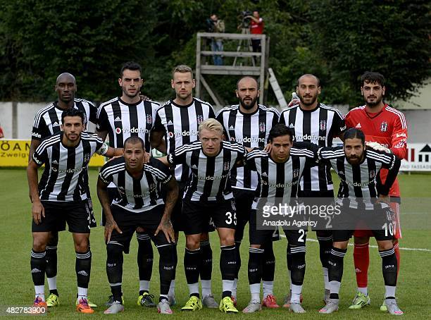 Players of Besiktas pose for a group photo before the friendly match between Besiktas and NK Zadar in Pinkafeld district of Austria on August 02 2015