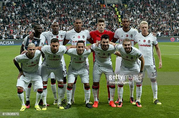 Players of Besiktas pose for a photo before the UEFA Champions League football match between Besiktas and Dinamo Kiev at Vodafone Arena in Istanbul...