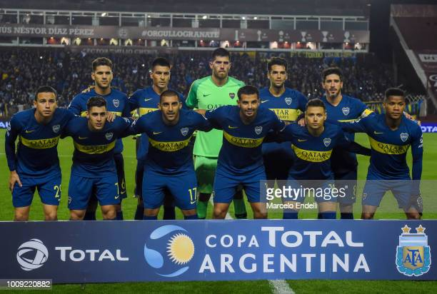 Players of Boca Juniors pose for a photo prior to the first a match between Boca Juniors and Alvarado as part of Round of 64 of Copa Argentina 2018...