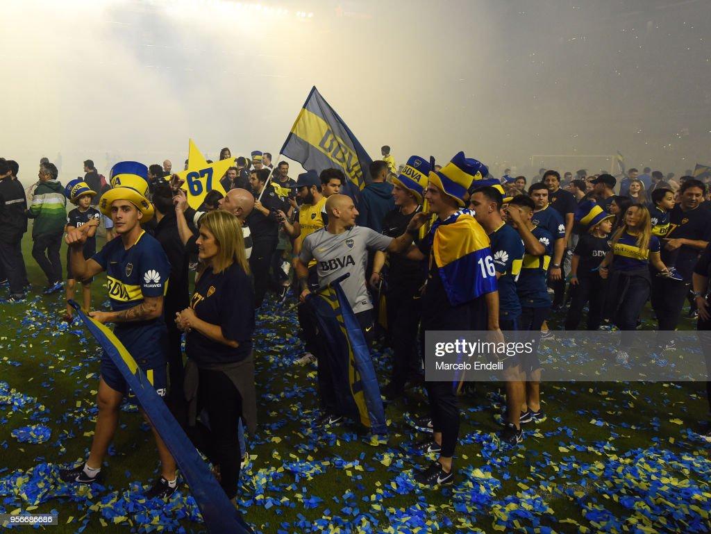 Boca Juniors Celebrate Championship at La Bombonera : News Photo