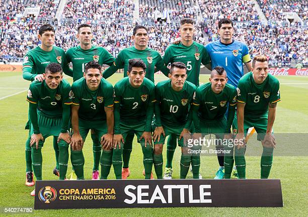 Players of Bolivia pose for a photo before a group D match between Argentina and Bolivia at CenturyLink Field as part of Copa America Centenario US...