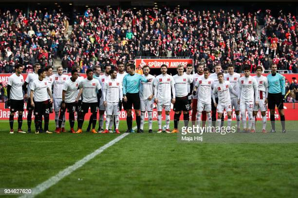 Players of both teams wearing a shirt with a message against discrimination for the campaign 'Say No to prejudice' an antidiscrimination campaign of...