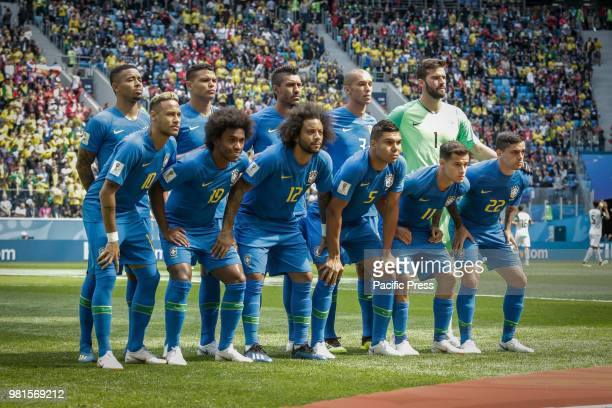 SAO PETESBURGO VAZIO RUSSIA Players of Brasil during the match between Brazil and Costa Rica for the second round of group E of the 2018 World Cup...