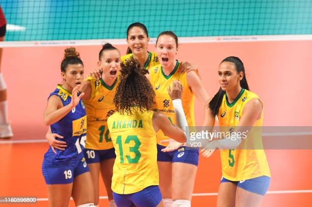 60 Top United States V Brazil Volleyball Nations League The Finals
