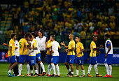 sao paulo brazil players brazil celebrate