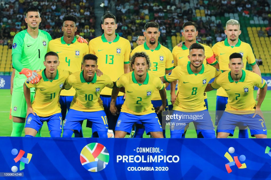 Brazil U23 v Peru U23 - CONMEBOL Preolimpico Colombia 2020 : ニュース写真
