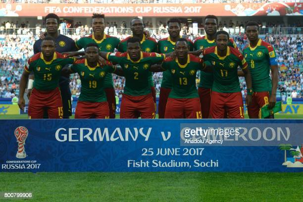 Players of Cameroon pose for a photo ahead of the FIFA Confederations Cup 2017 soccer match between Cameroon and Germany in Sochi Russia on June 25...