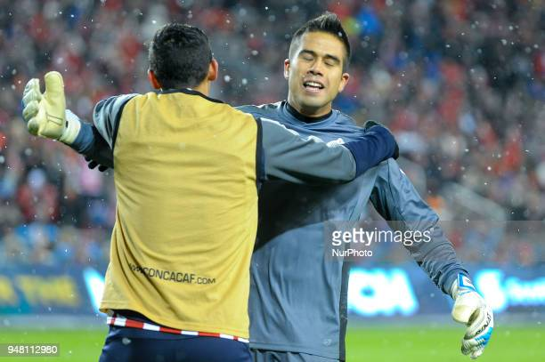 Players of CD Chivas Guadalajara congratulate each other after the 2018 CONCACAF Champions League Final match between Toronto FC and CD Chivas...