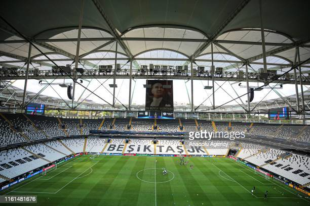 Players of Chelsea attend a training session ahead of the UEFA Super Cup soccer match between Liverpool and Chelsea at Vodafone Park in Istanbul,...