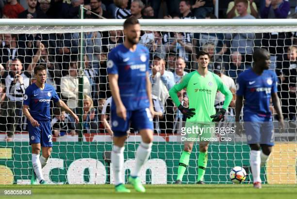 Players of Chelsea looks dejected during the Premier League match between Newcastle United and Chelsea at St James Park on May 13 2018 in Newcastle...