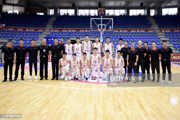 Players of China pose for a photo before the FIBA Basketball World Cup 2019 Qualifiers match between China and Syria on February 24 2019 in Zouk...