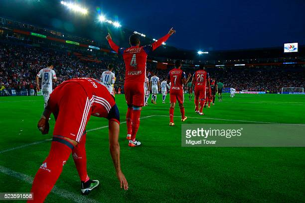 Players of Chivas get in to the field prior the 15th round match between Pachuca and Chivas as part of the Clausura 2016 Liga MX at Hidalgo Stadium...