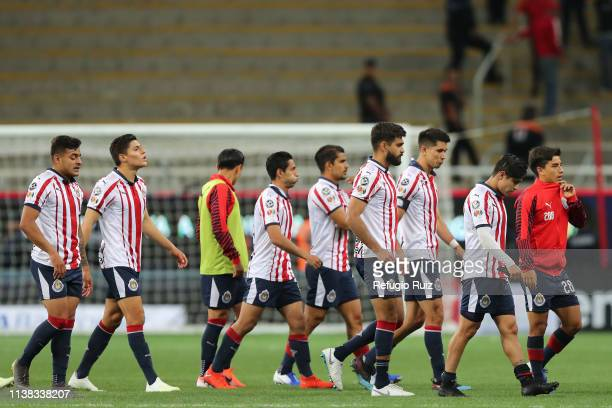 Players of Chivas leave the field after being defeated in the 15th round match between Chivas and Puebla as part of the Torneo Clausura 2019 Liga MX...