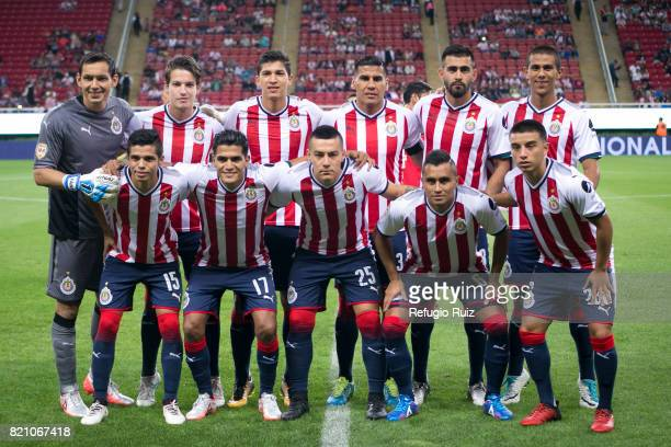 Players of Chivas pose for photos prior the 1st round match between Chivas and Toluca as part of the Torneo Apertura 2017 Liga MX at Chivas Stadium...
