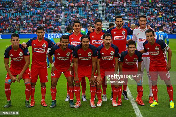 Players of Chivas pose prior the 2nd round match between Cruz Azul and Chivas as part of the Clausura 2016 Liga MX at Azul Stadium on January 16 2016...