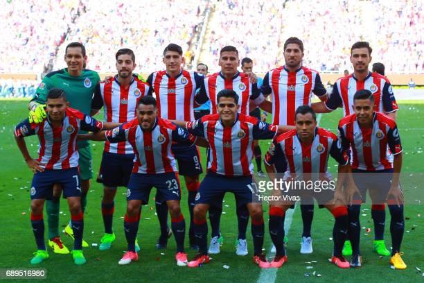 Players of Chivas pose prior the Final second leg match between Chivas and Tigres UANL as part of the Torneo Clausura 2017 Liga MX at Chivas Stadium...