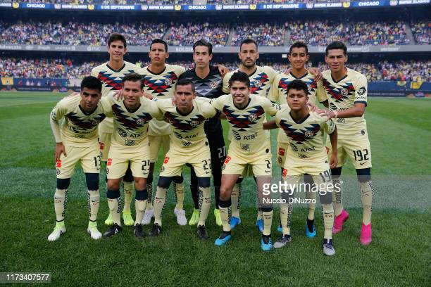 Players of Club America pose for a team photo prior to their Super Clasico game against Chivas de Guadalajara at Soldier Field on September 08 2019...