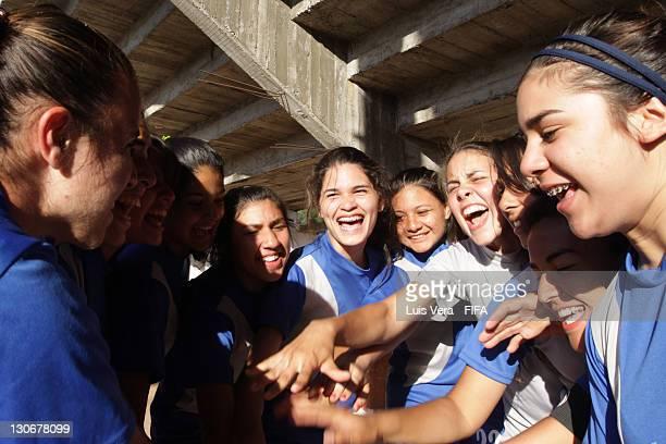Players of Colegio Tecnico de Luque during the FIFA Women's Football Initiative on October 27 2011 in Asuncion Paraguay