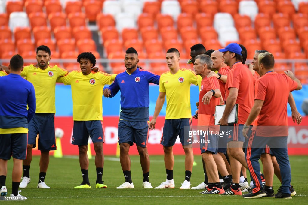 Colombia Press Conference And Training Session
