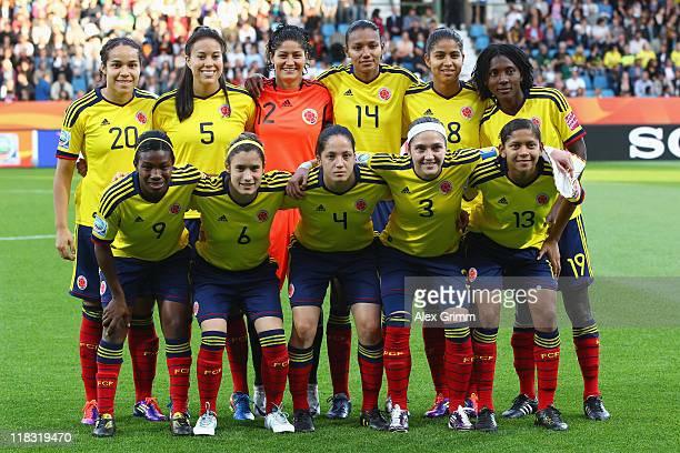 Players of Colombia Orianica Velasquez Nataly Arias Sandra Sepulveda Kelis Peduzine Katerin Castro Fatima Montano Carmen Rodallega Daniela Montoya...