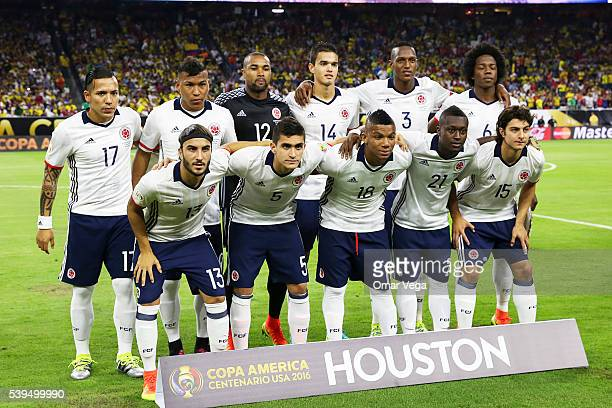 Players Of Colombia Pose Prior A Group Match Between And Costa Rica At Nrg