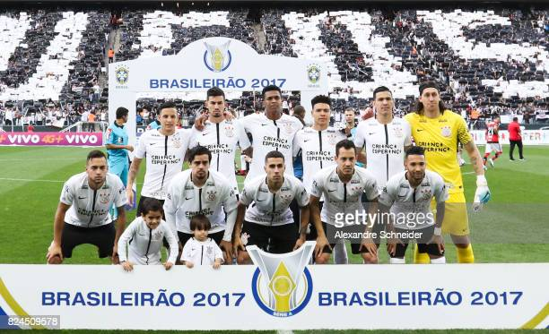 Players of Corinthianspose for photo before the match between Corinthians and Flamengo for the Brasileirao Series A 2017 at Arena Corinthians Stadium...