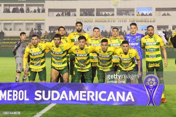 Nicolas Fernandez of Defensa y Justicia celebrate after after scoring the opening goal during a second stage match between Defensa y Justicia and El...