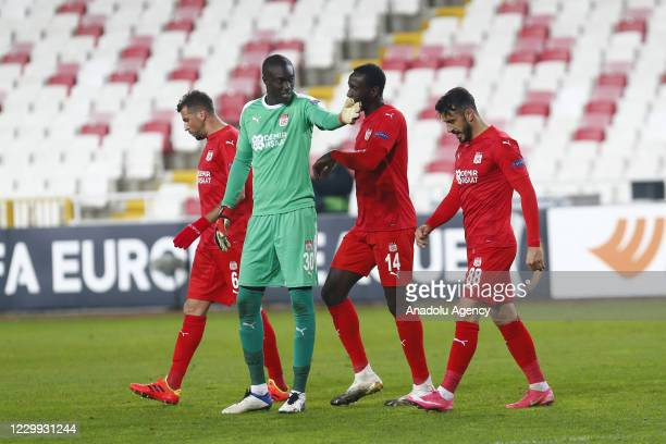 Players of Demir Grup Sivasspor gesture after losing the UEFA Europa League Group I match between Demir Grup Sivasspor and Villarreal at the 4 Eylul...