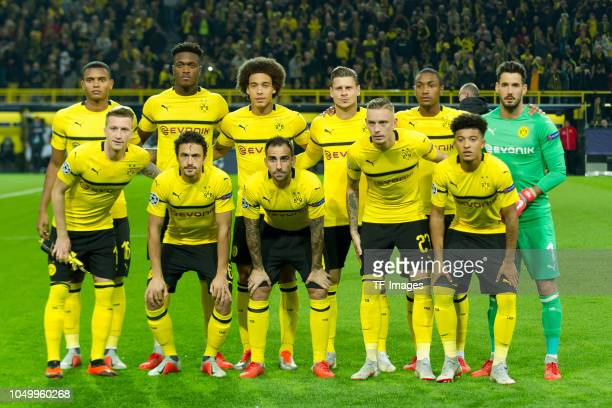 Players of Dortmund are seen during the Group A match of the UEFA Champions League between Borussia Dortmund and AS Monaco at Signal Iduna Park on...
