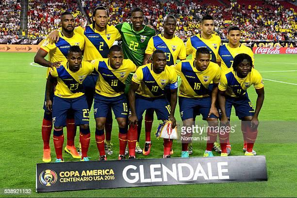 Players of Ecuador pose for a team photo before a group B match between Ecuador and Peru as part of Copa America Centenario US 2016 at University of...