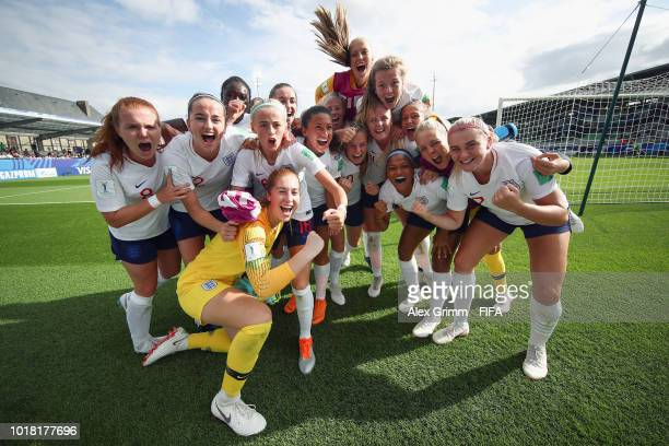 Lize Kop of Netherlands concentrates in the tunnel prior to the FIFA U20 Women's World Cup France 2018 Quarter Final quarter final match between...