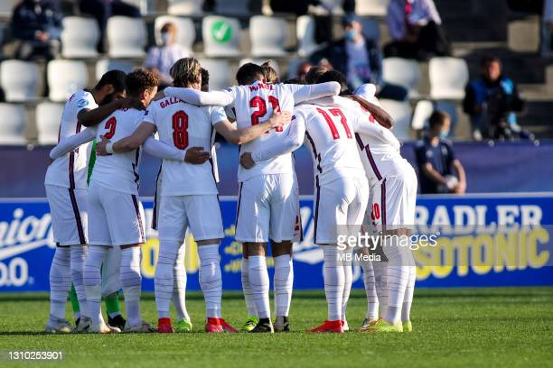 Players of England during the 2021 UEFA European Under-21 Championship Group D match between Croatia and England at Stadion Bonifika on March 31,...