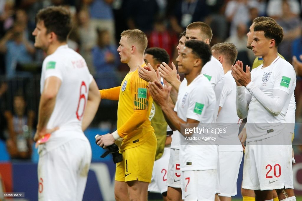 Croatia v england semi final 2018 fifa world cup pictures players of england greet the fans after the 2018 fifa world cup russia semi final match m4hsunfo