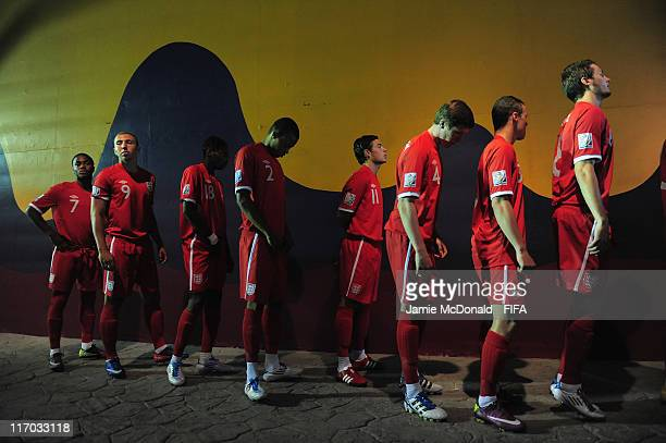 Players of England wait in the tunnel during the FIFA U17 World Cup Group C match between Rwanda and England at the Estadio Hidalgo on June 19 2011...