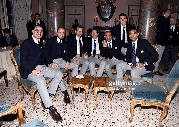 Players of FC Internazionale attend FC Internazionale Sponsor's Christmas Party at Villa Cicogna on December 16 2014 in Milano Italy