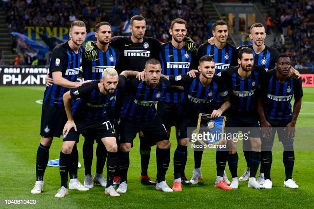 Players of FC Internazionale pose for a team photo prior to the Serie A football match between FC Internazionale and ACF Fiorentina FC Internazionale...