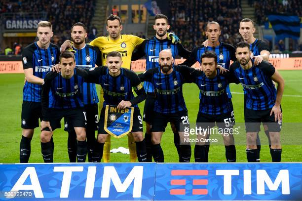 Players of FC Internazionale pose for a team photo prior to the Serie A football match between FC Internazionale and UC Sampdoria FC Internazionale...